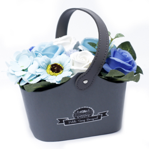Soothing Blue Soap Bouquet Petite Basket